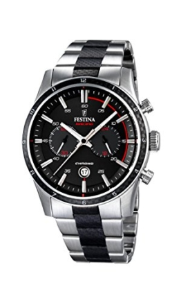Festina Herren-Armbanduhr XL Chronograph Quarz Edelstahl beschichtet F16819/3 -