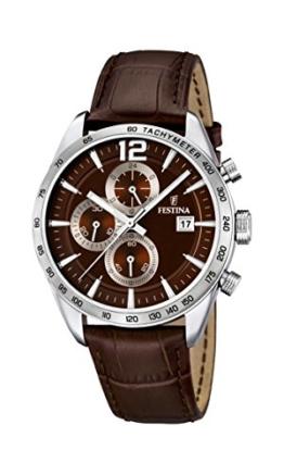 Festina Herren-Armbanduhr XL Chronograph Quarz Leder F16760/2 -
