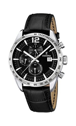 Festina Herren-Armbanduhr XL Chronograph Quarz Leder F16760/4 -