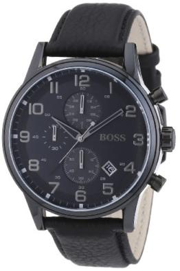 Hugo Boss Herren-Armbanduhr Analog Quarz Leder 1512567 -