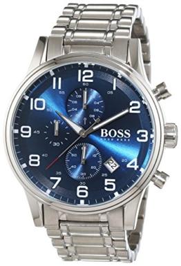 Hugo Boss Herren-Armbanduhr Chronograph Quarz Edelstahl 1513183 -