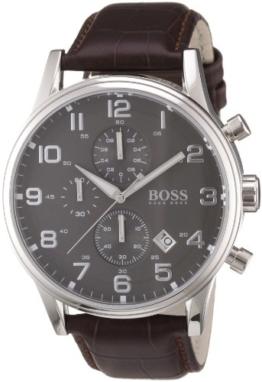 Hugo Boss Herren-Armbanduhr HB-2006 Chronograph Quarz Leder 1512570 -