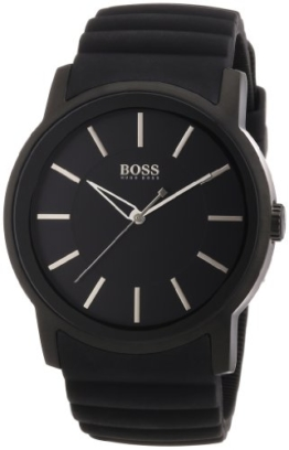 Hugo Boss Herren-Armbanduhr XL Analog Quarz Silikon 1512742 -