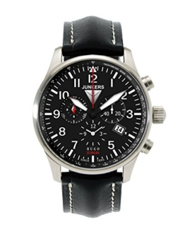 Junkers Herren-Armbanduhr XL Hugo Chronograph Quarz Leder 66842 -