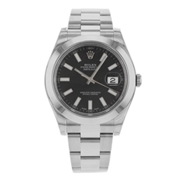 ROLEX DATEJUST II MEN'S STAINLESS STEEL CASE AUTOMATIC DATE UHR 116300BKSO -