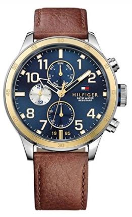 Tommy Hilfiger Herren-Armbanduhr Analog Quarz Leder 1791137 -