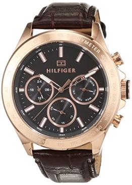 Tommy Hilfiger Herren-Armbanduhr Sophisticated Sport Analog Quarz Leder 1791225 -