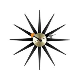 Vitra 201 253 05 Sunburst Wanduhr Durchmesser 47.0 cm, schwarz / messing -