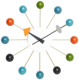Vitra 20125003 Wanduhr Ball Clock 330 mm mehrfarbig -