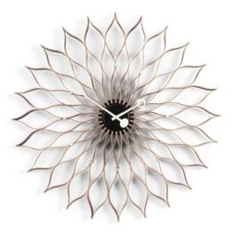 Vitra 20125601 Sunflower Clock Ø 750 mm Birke schwarz, Quarz-Uhrwerk, inklusiv 1.5 V Batterie -