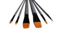 6 Toray Künstlerpinsel Set Spitzpinsel spitz Flachpinsel flach Katzenzungen Pinsel Toraypinsel Acrylpinsel Aquarellpinsel -