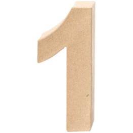 Papp-Zahl 1, 17,5x5,5cm [Spielzeug] -