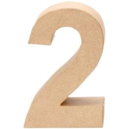 Papp-Zahl 2, 17,5x5,5cm [Spielzeug] -