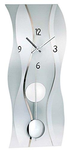 AMS 7246 Wanduhr Glas Modern Pendel - 1