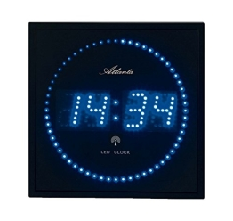 Atlanta 4312 Wanduhr Digital, 28 x 28 cm LED blau funk - 1