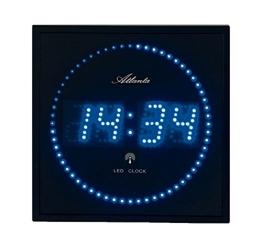 Atlanta 4312 Wanduhr Digital, 28 x 28 cm LED blau funk - 1