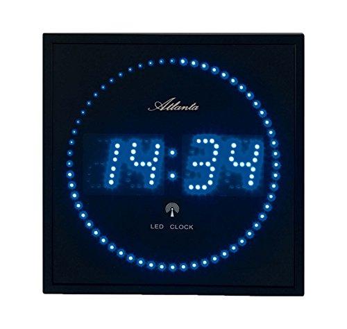 atlanta 4312 wanduhr digital 28 x 28 cm led blau funk. Black Bedroom Furniture Sets. Home Design Ideas