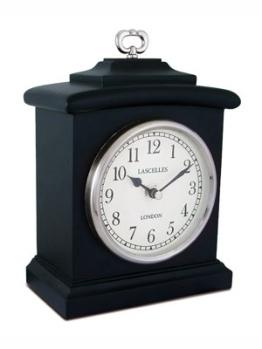 Black Wooden Mantel Clock - 22x19x6cm / Schwarz Holz Mantel Clock - 22x19x6cm - 1