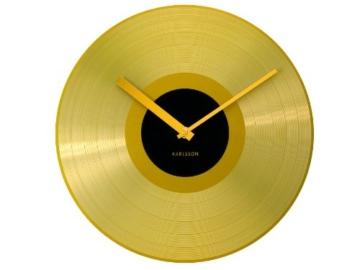 Karlsson KA4539 Wanduhr Mega Disc Goldenen Record -