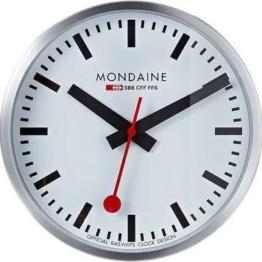 Moderne Wanduhr mit Quartzwerk, batteriebetrieben Mondaine -Wall Clock 25cm- A990.CLOCK.16SBB - 1