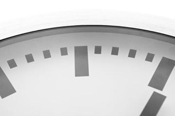 Nextime Station Wanduhr, Bahnhofsuhr ohne Ziffern, Uhr mit schleichendem Zeiger, Aluminium, Ø 35 cm, 3999 - 6