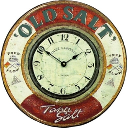 Roger Lascelles Old Salt Wanduhr, nautisches Design - 1