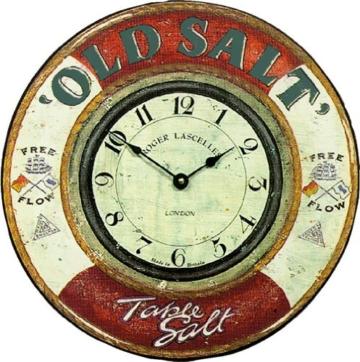 Roger Lascelles Old Salt Wanduhr, nautisches Design -