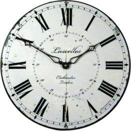 Roger Lascelles Wanduhr mit kombiniertem 12-Stunden- / 24-Stunden-Design - 1