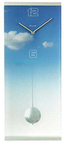 Zeit.punkt 17/450 Wanduhr Glas Pendel Modern - 1