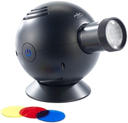 infactory LED-Uhrenprojektor mit 3 Farbfiltern (blau, gelb, rot) - 1