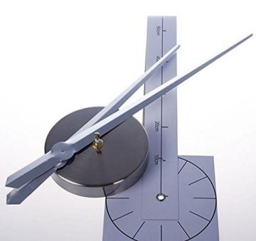XXL 3D Silberne Riesen Designer Wanduhr Wohnzimmer Dekoration Wandtatoo mit deutschem Ziffernblatt aus Acryl - 4
