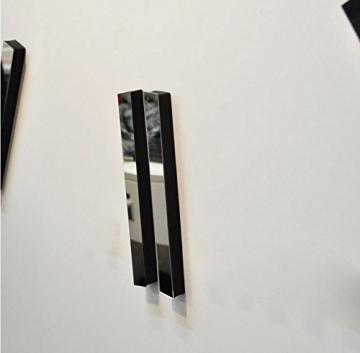 Silberne Riesen Designer Wanduhr Wohnzimmer Dekoration Wandtatoo XXL 3D aus Acryl - 8