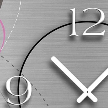 Abstrakt grau Designer Wanduhr modernes Wanduhren Design 28cm x 48cm leise kein ticken DIXTIME 3D-0053 - 3