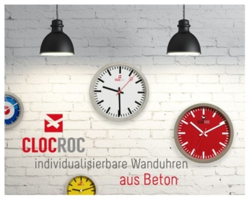 Clocroc - Aviation Big, Wanduhr aus Beton groß - 6