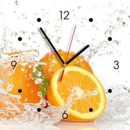 Contento 866080 Wanduhr, 28 x 28 cm, Orange - 1