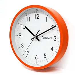 Decowall, DSH-M22OR, Silent Farbe Pop Wanduhr-Orange / Wanduhr / Stille Wanduhr (Durchmesser 22,5 cm) - 1