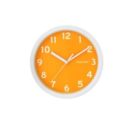 Decowall, DSH-S22OR, Still Smoothie Wanduhr 22,5cm-Orange / Wanduhr / Stille Wanduhr (Durchmesser 22,5 cm) - 1