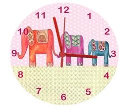 Elefant, Wanduhr für Kinderzimmer, Nursery Uhr Uhr - 1