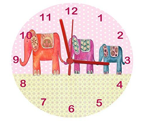 elefant wanduhr f r kinderzimmer nursery uhr uhr. Black Bedroom Furniture Sets. Home Design Ideas