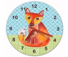 Fox Uhr, leise, Uhrzeit, Wecker, Wanduhr für Kinderzimmer - 1