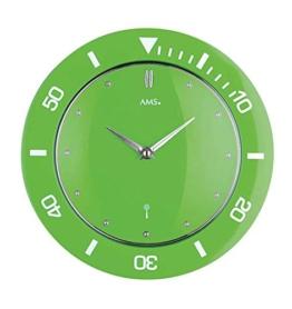Funk-Wanduhr Farbe: Grün - 1