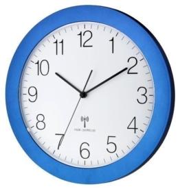 Funk-Wanduhr TFA 60.3512.06 blau-metallic mit Lautlos Sweep-Uhrwerk 300 mm - 1