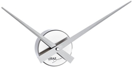 Graz Design Uhrwerk_AL Wanduhr 44cm Little Big Time Mini silber gebürstet - 1