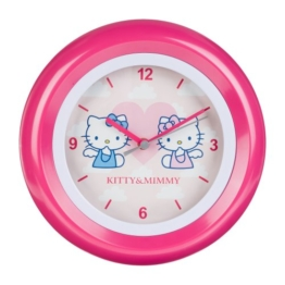 Hello Kitty kinder Wanduhr Analog Rosa HK28-5 - 1