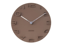 KARLSSON KA5311BR Wanduhr On The Edge, Zeiger Plastik, 5 x 42 x 42 cm, braun / chrom - 1