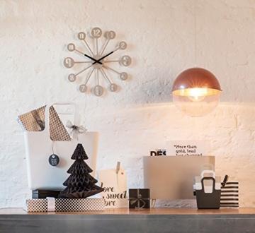 Koziol Pinball, Wanduhr, Uhr, Quarzuhrwerk, Dekoration, Solid Schwarz, 2341526 - 2