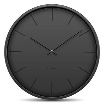 leff amsterdam lt16003 wanduhr tone35 schwarz. Black Bedroom Furniture Sets. Home Design Ideas