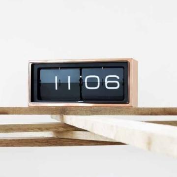 Leff Amsterdam Uhr in Ziegelsteinform, verkupfert - 1