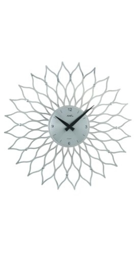 Quarz-Wanduhr Sunny Farbe: Silber - 1