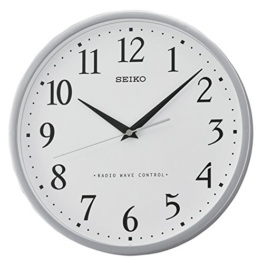 Seiko Unisex Wanduhren Kunststoff silber QXR210S - 1